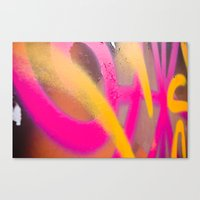 graffiti Canvas Prints featuring Graffiti  by Zenzile Sky Lark