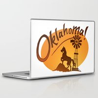 oklahoma Laptop & iPad Skins featuring Oklahoma by Jacinta Eve