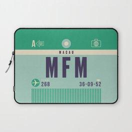Retro Airline Luggage Tag - MFM Macau Laptop Sleeve