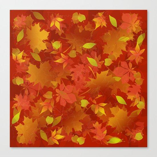 Autumn Leaves Carpet Canvas Print