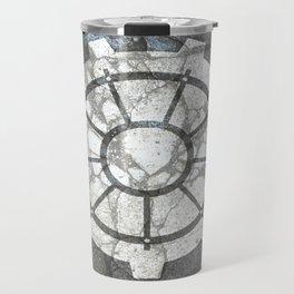 Fallout inspired welcome home, vault door, print, poster, wall art, neutral Travel Mug