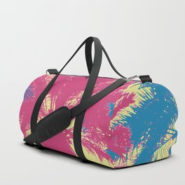 Tropical palm tree silhouettes Duffle Bag