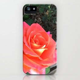 Rose On a fence iPhone Case