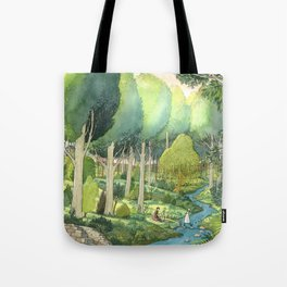 Painting By The Stream Tote Bag