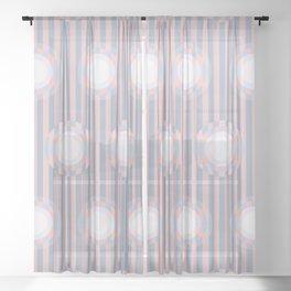 Op Art Circles 2 Sheer Curtain