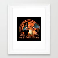 smash bros Framed Art Prints featuring Charizard - Super Smash Bros. by Donkey Inferno