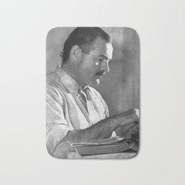 Ernest Hemingway Bath Mat