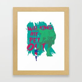 Walking My Pet Out Framed Art Print