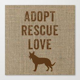 Adopt. Rescue. Love. Canvas Print