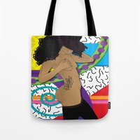 hat Tote Bags featuring Hat by TheArtGoon