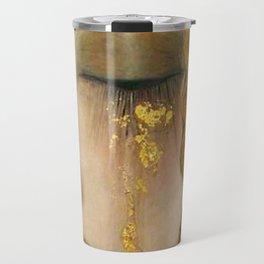 Golden Tears (Freya's Heartache) portrait painting by Gustav Klimt Travel Mug
