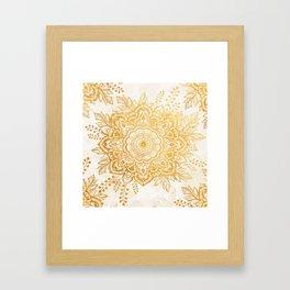 Queen Starring of Mandala-Gold Sunflower I Framed Art Print