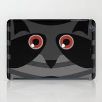 racoon iPad Cases featuring racoon - raccoon  by ArigigiPixel
