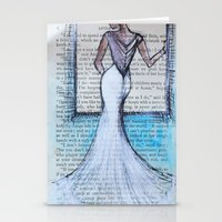 dress Stationery Cards featuring Dress by Sarah Paterson