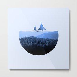 Serenity - Surreal Collage Poster Metal Print