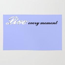 Live Every Moment (Light Blue) Rug