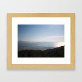 Cool Blue Sky and Green Plains of Gokova from Sakartepe Framed Art Print