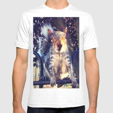 Going nuts Mens Fitted Tee MEDIUM White
