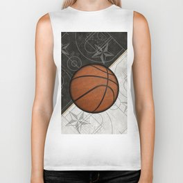 Basketball Stars and Court Team Sports Design Biker Tank