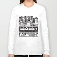 england Long Sleeve T-shirts featuring Brighton, England by Caroline Rees