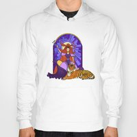 stained glass Hoodies featuring Stained glass by Rafapasta
