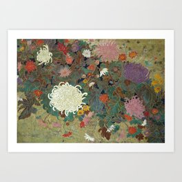flower【Japanese painting】 Art Print