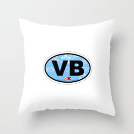Virginia Beach. Throw Pillow