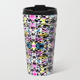 Paint Splatter - Black Travel Mug