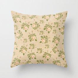 Floral Vintage Throw Pillow