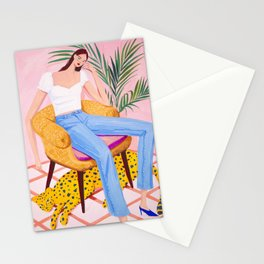 Bohemian Pink Room Stationery Cards