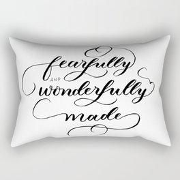 Fearfully & wonderfully made - brushed Rectangular Pillow