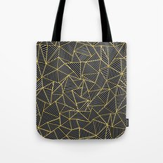Ab Out Double Repeat Black Tote Bag