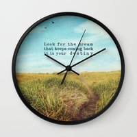 destiny Wall Clocks featuring destiny by Sylvia Cook Photography