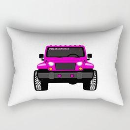'Boston' Pink Jeep Girl Rectangular Pillow