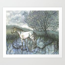 Pale Hose Art Print