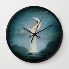 Moon River Lady Wall Clock