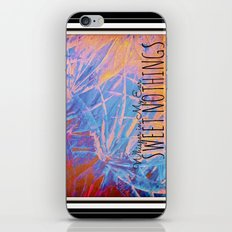 SWEET NOTHINGS - Beautiful Abstract Midnight Romantic Valentine Florals, Eggplant Pink Modern iPhone & iPod Skin
