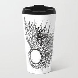 visual pattern of exotic lines Travel Mug