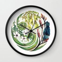 Kiwiana Wreath Wall Clock