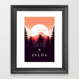 The Legend of Zelda - Orange Version Framed Art Print