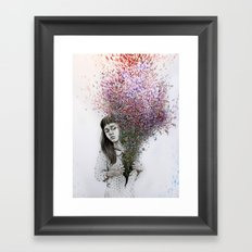 I tried to draw my soul but all I could think of was flowers Framed Art Print