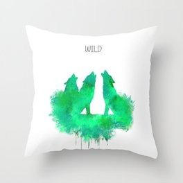 Wild wolves Throw Pillow