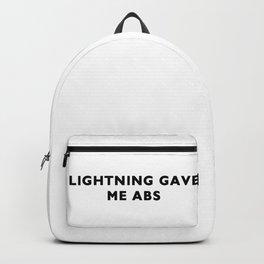 Lightning gave me abs Backpack
