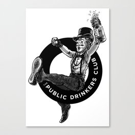 The Public Drinkers Club Canvas Print