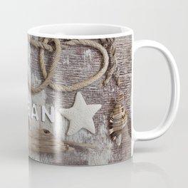 Beach Findings Rustic Nautical Collage Coffee Mug
