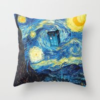 starry night Throw Pillows featuring STARRY by MiliarderBrown