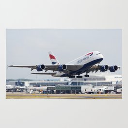 British Airways A380 Rug
