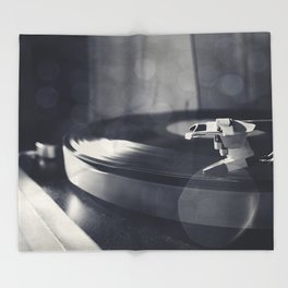 from time to time i like listening to an old record Throw Blanket