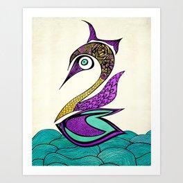 Mystic Swan Art Print