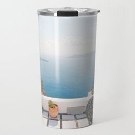 View on Santorini island Travel Mug